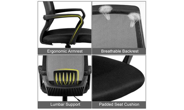 Astonishing Up To 24 Off On Costway Office Chair Mesh Cha Groupon Caraccident5 Cool Chair Designs And Ideas Caraccident5Info