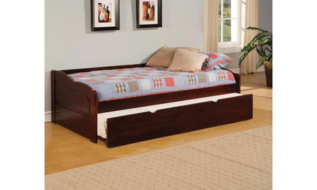 Furniture of America Lamas Dark Cherry Daybed with Trundle d564d611-3e1a-4212-acfb-a248cb468ad1