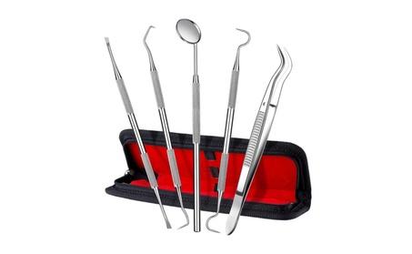 ElleSye Dental Tool Set, Dental Hygiene Tool Kit, 5-Piece 053dcc85-7c58-4b3c-bdf1-881b47f46ed8