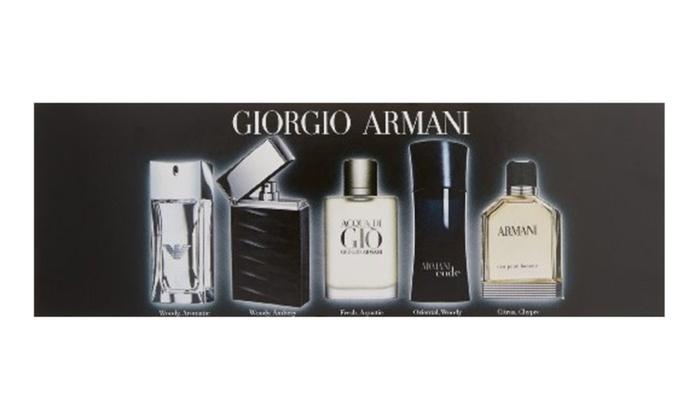 Giorgio Armani Mini Attitude 5 Piece Gift Set For Men Groupon