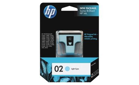 HP No. 02 Ink Cartridge For Photosmart 8250 Printer Light Cyan C8774WN