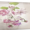 Vintage Pink Flowers Floral Art Painting Metal Wall Art 28x12