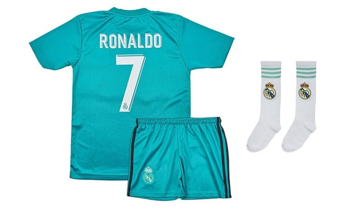 finest selection 0662d aa338 Real Madrid No.7 Ronaldo Soccer Jersey Kids & Youth Sizes