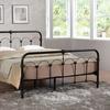 Celeste Stippled Metal Platform Bed