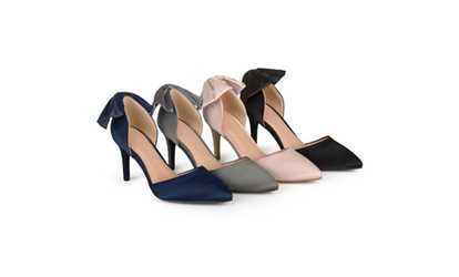 8538338d9a1 Shop Groupon Journee Collection Womens Bow Pointed Toe D orsay Pumps