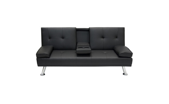 Modern Entertainment Futon Sofa Bed Fold Up Down Recliner Couch