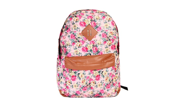 Riah Fashion: Posh Floral Printed Backpack