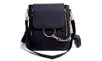 Crossbody Fashion Backpack Purse Small Leather Shoulder Bag Women (STYLE SOLID) photo
