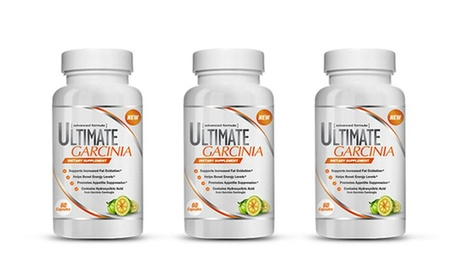 Ultimate Garcinia Dual-Action Fat-Burning Supplement (1- or 3-Pack)