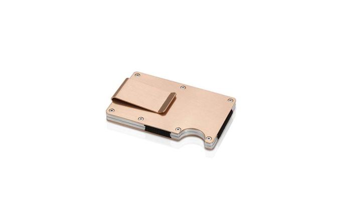 Money clip men metal wallet credit card business card holder 775g colourmoves