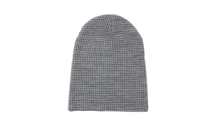 Men's Casual Elastic Closure Braid Woolen  Hat – Heather Gray / One Size