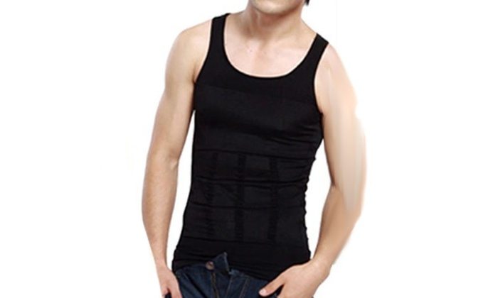 83b98777 Mens Abs Abdomen Slim Compression Muscle Tank Slimming Body Shaper  Undershirt