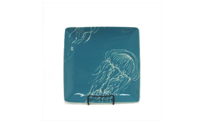Jellyfish Stoneware Dinner Plate ...  sc 1 st  Groupon & Up To 10% Off on Jellyfish Stoneware Dinner Plate | Groupon Goods