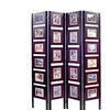 """Picture Folding Screen -fit 22 4"""" X 6"""" Pictures - Rich Mahagony Finish"""