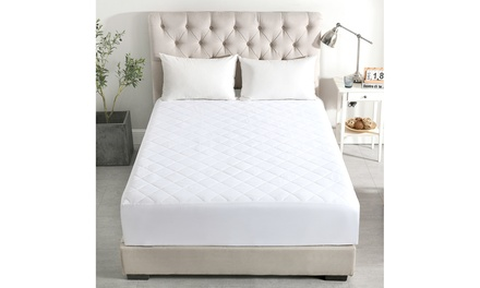 """Diamond Quilted Mattress Pad Cover with 16"""" Deep Pocket"""