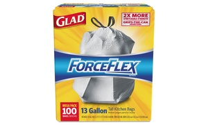 Glad Forceflex Tall Kitchen Drawstring Bags (100 Pack)