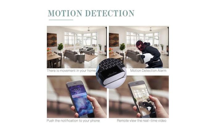 HD 1080P Wifi IP Spy Hidden Camera DVR IR Motion Detection Security Alarm Clock