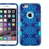 Insten Hard Dual Layer Silicone Case For Apple Iphone 6 Plus Blue