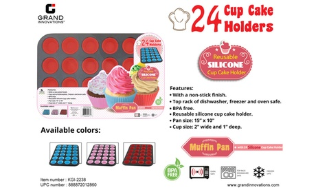 25 Pc Set - 24 Silicone Cups And Baking Pan fd703817-d24b-43b3-994c-bf9aafe02a22