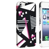 Insten Snap-on Hard Case For Apple iPhone 5/5s, Geometric Rear