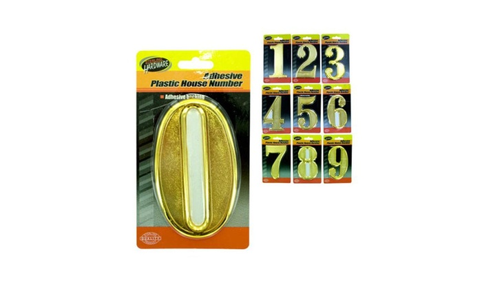 Bulk Buys Plastic House Numbers With Adhesive Back - Pack Of 15
