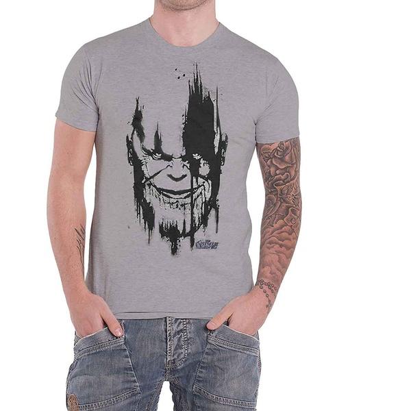 2XL Avengers Infinity War Thanos Custom Black T-shirt US Standard Size S