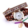 Feather Genuine Leather Casual Quartz Wristwatches for Women