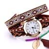 Genuine Leather Casual Quartz Wristwatch for Women