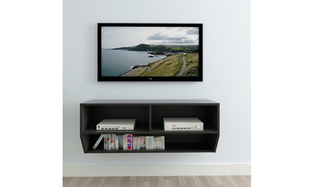 "40""Living Room TV Stand LED Wall TV Cabinet Black"