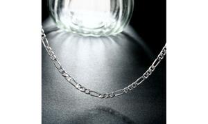 Silver Thick Cut Chain Sleek Chain Necklace