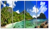 Tropical Scenery Landscape Photography Metal Wall Art 48x28 4 Panels
