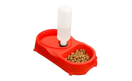 Evelots Premium Pet Feeder & Food Bowl & Automatic Water - Red 1b355325-fe8e-4025-a499-45c9518f5891