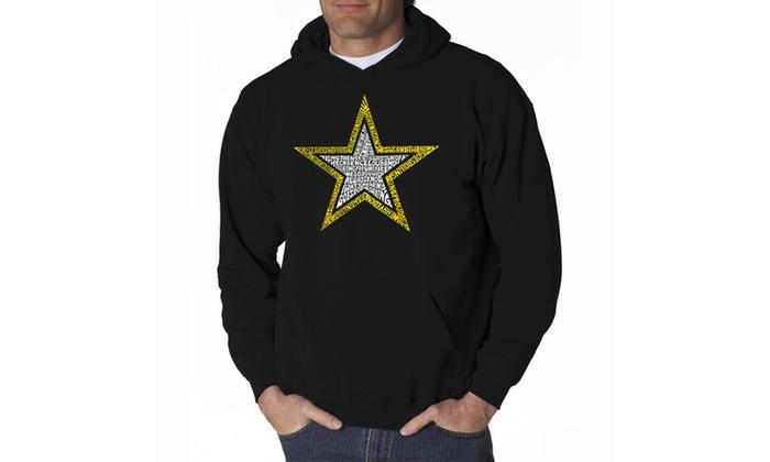 Men's Hooded Sweatshirt - LYRICS TO THE ARMY SONG