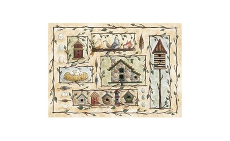 Custom Printed Rugs BIRD HOUSES Bird Houses Rug (Goods For The Home Home Décor) photo