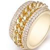 18K Gold Plated & Swarovski Elements Braid Statement Ring