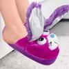 Stompeez Purple Bunny Slippers Unisex Kids (Large) 2.5-6
