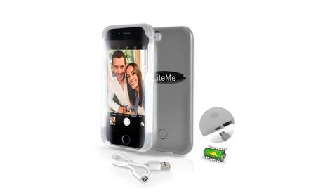 Flashing Light selfie case with Power Bank Phone Gray 30710e0a-aa54-46c6-bd6b-e2694c25a64e