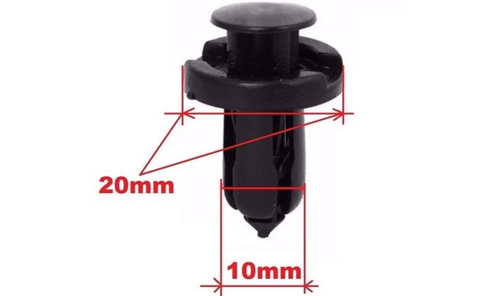 20pcs Plastic Rivet Fastener Bumper Clip Retainer Screw Fender For Honda Acura