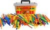 Straw Constructor STEM Building Toys 800 pcs-Colorful Interlocking Plastic