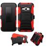 Insten Hybrid Hard Case For Samsung Galaxy Amp 2 / J1 Black/red