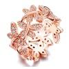 Flower Butterflies Paved Elegant Tiny CZ Stone Ring For Women