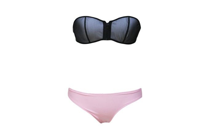Women's Fashion Slim Fit Casual Solid Bikini Sets