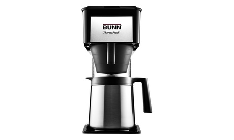 Bunn O Matic 10 Cup Velocity Brew Bt Thermal Coffee Brewer, Black/Steel 7820eed3-cf79-43fa-ae9f-931841bc8705