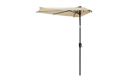 10ft LED Solar Power Patio Half Outdoor Umbrella b78b8026-62b8-4bb9-9279-55e6d824265e