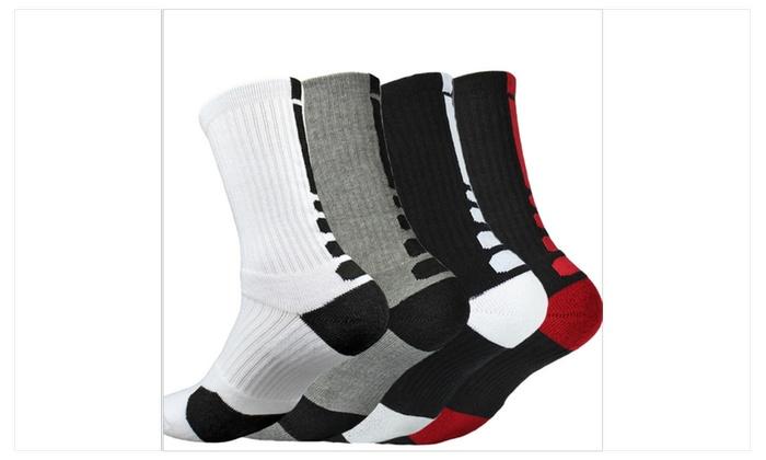 Men 's fashion elite basketball socks sports socks football (4 pack)