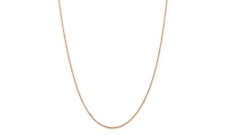 14k Rose Gold 1.5mm Diamond Cut Rope Chain Necklace 64f3e786-a650-40ca-b215-e3c9bd416b58