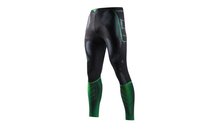 06a1ac1415 Men's Sports Superhero Compression Pants Quick-Drying Training Pants ...
