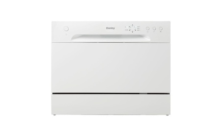 Danby DDW621WDB 6 Place Setting Countertop Dishwasher, White photo