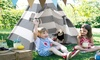 6' Outdoor Kids Christmas Gift Stripe Playhouse Teepee Play Tent w/Carrying Bag