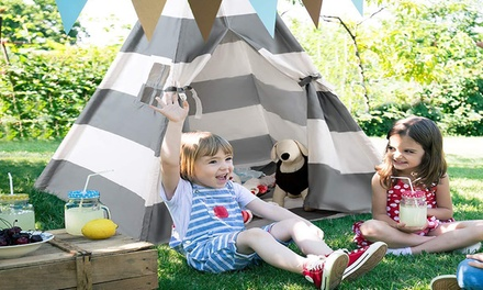Style; 2019 New Style Kids Teepee Tent Portable Canvas Indian Teepee With Ventilated Window For Indoor And Outdoor Fashionable Children Play Tent With Floor Mat In
